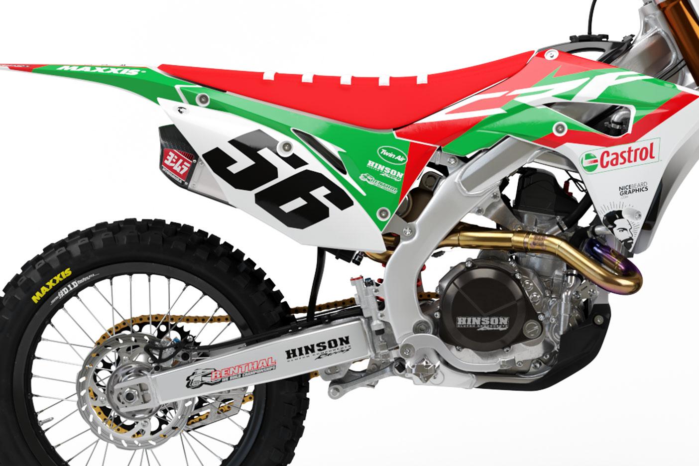 Ein Beispiel einer Startnummer auf dem Motorrad