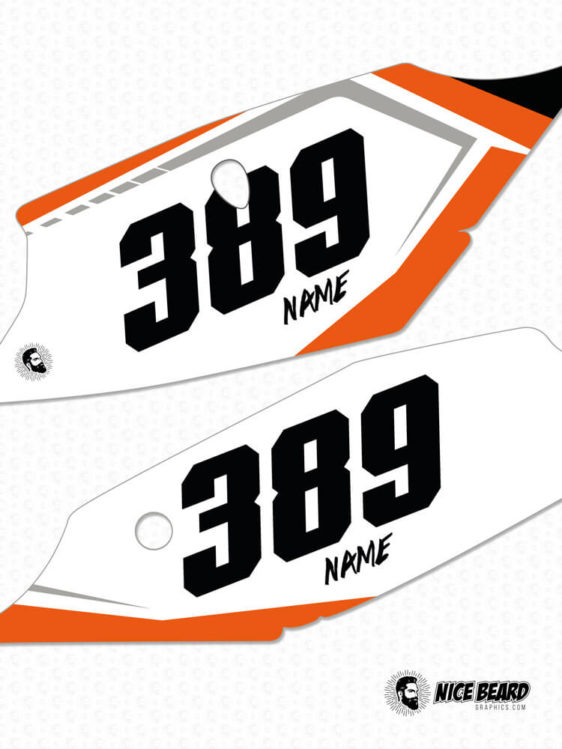 KTM NBG Aruba Nummern-Tafeln Detailansicht