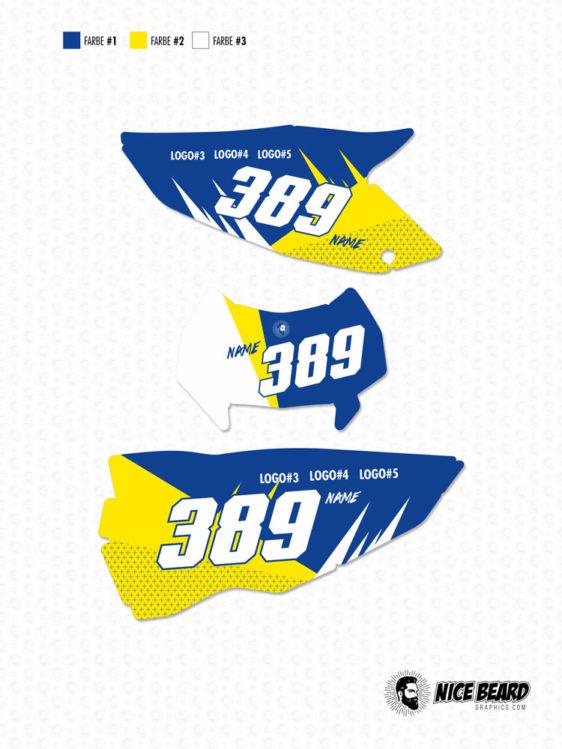 Husaberg NBG Cayman Nummern-Tafel-Set Hauptansicht