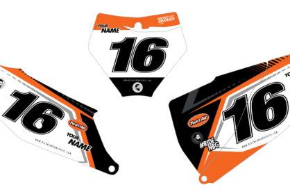 KTM NBG Aruba Nummerntafel Dekor Detailansicht