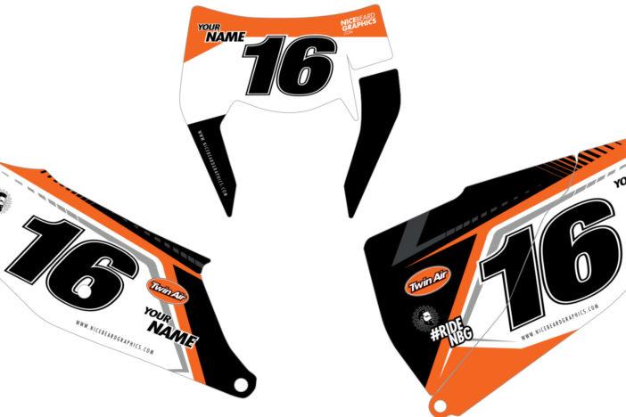 KTM NBG Aruba Nummerntafel Dekor Detailansicht EXC