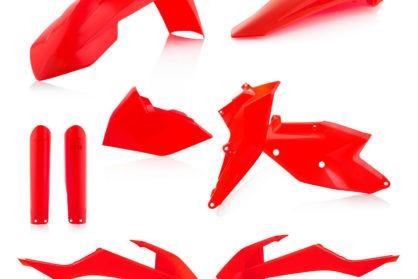 Plastikteile für deine KTM EXC UND EXC-F in neon orange, bestehend aus Frontkotflügel, Heckkotflügel, Tankspoiler, Seitenteilen und Gabelschoner