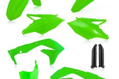 Acerbis Plastik-Kit Komplett / neon grün Kawasaki