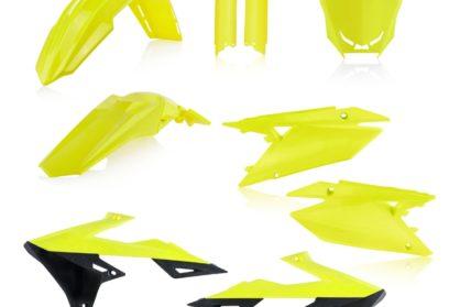 Acerbis Plastik-Kit Komplett / neon-gelb/schwarz Suzuki