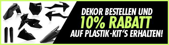 Spare zusätzlich 10% auf Plastikteile, beim Kauf eines Komplett Dekors.