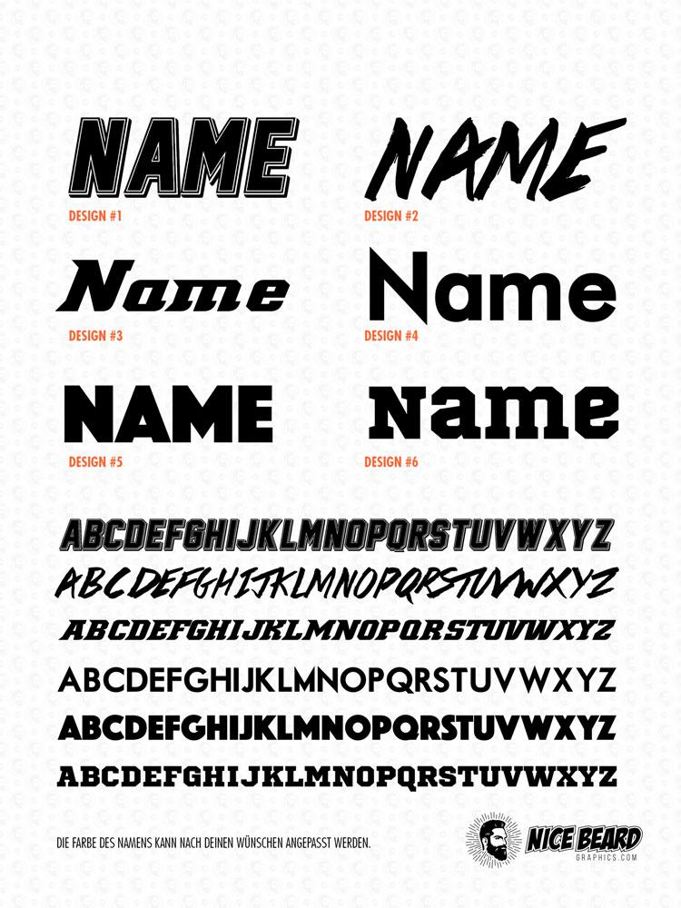 Schrift/Namen Design