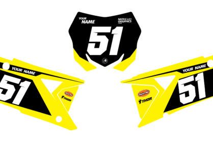 Suzuki Suspension Nummerntafelset in gelb, schwarz und weiß