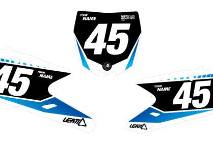 Yamaha Gradient Nummerntafelset in schwarz, blau und weiß