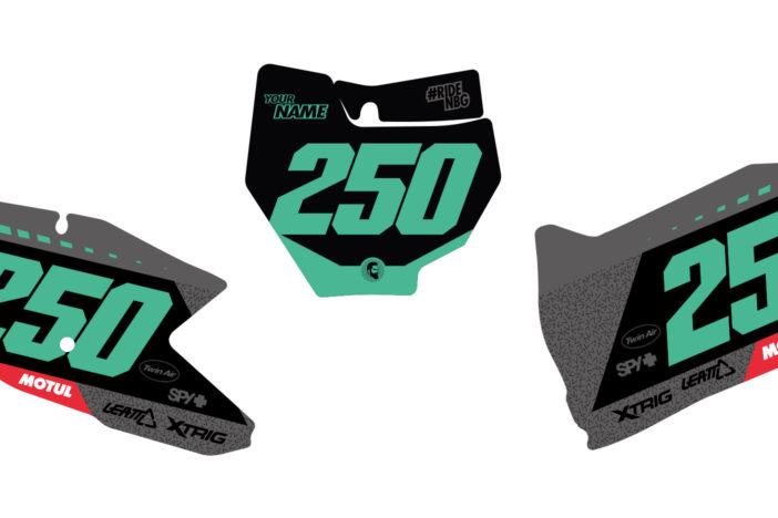 KTM Shift Nummerntafel-Set Detailansicht