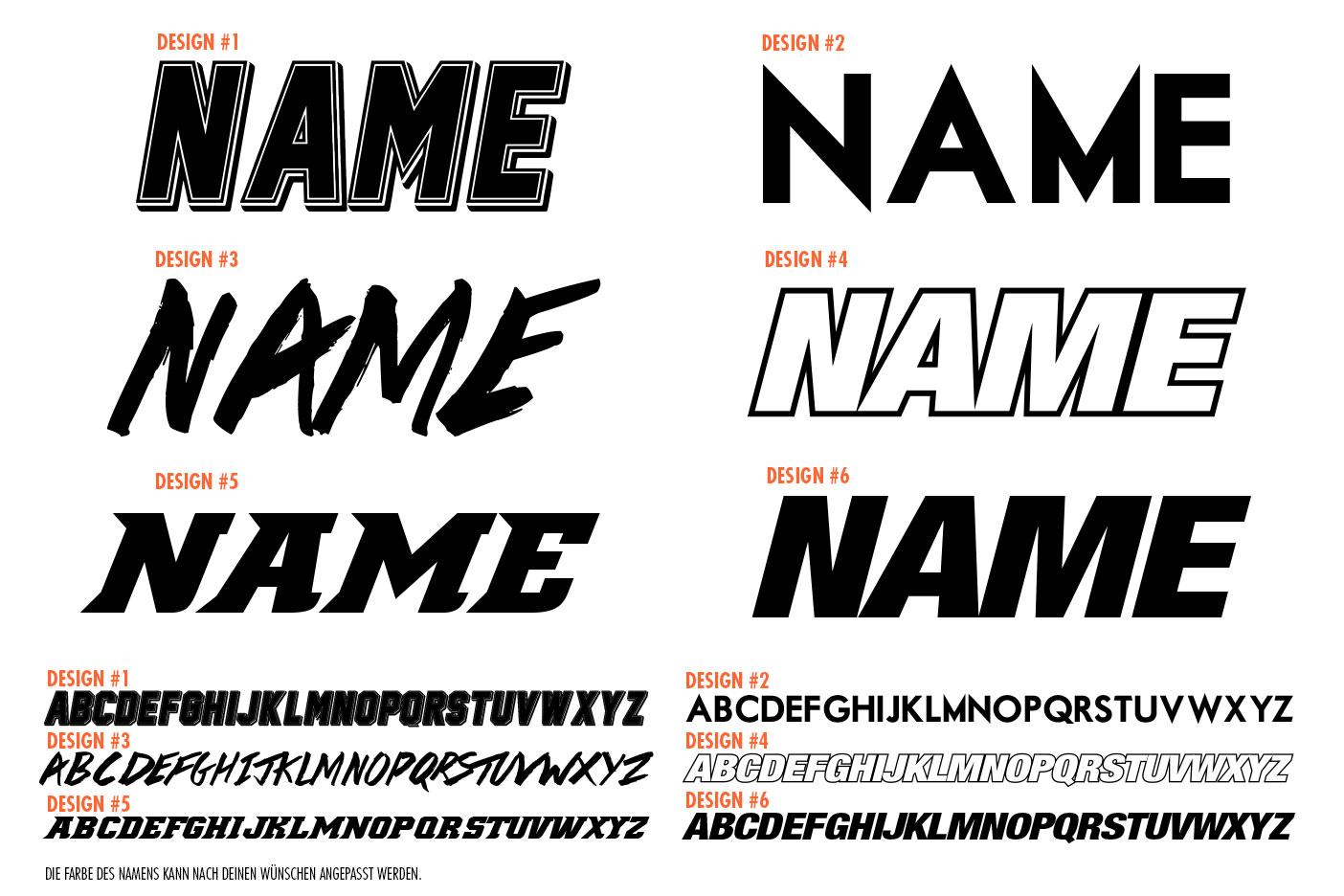 Schrift Design-Auswahl