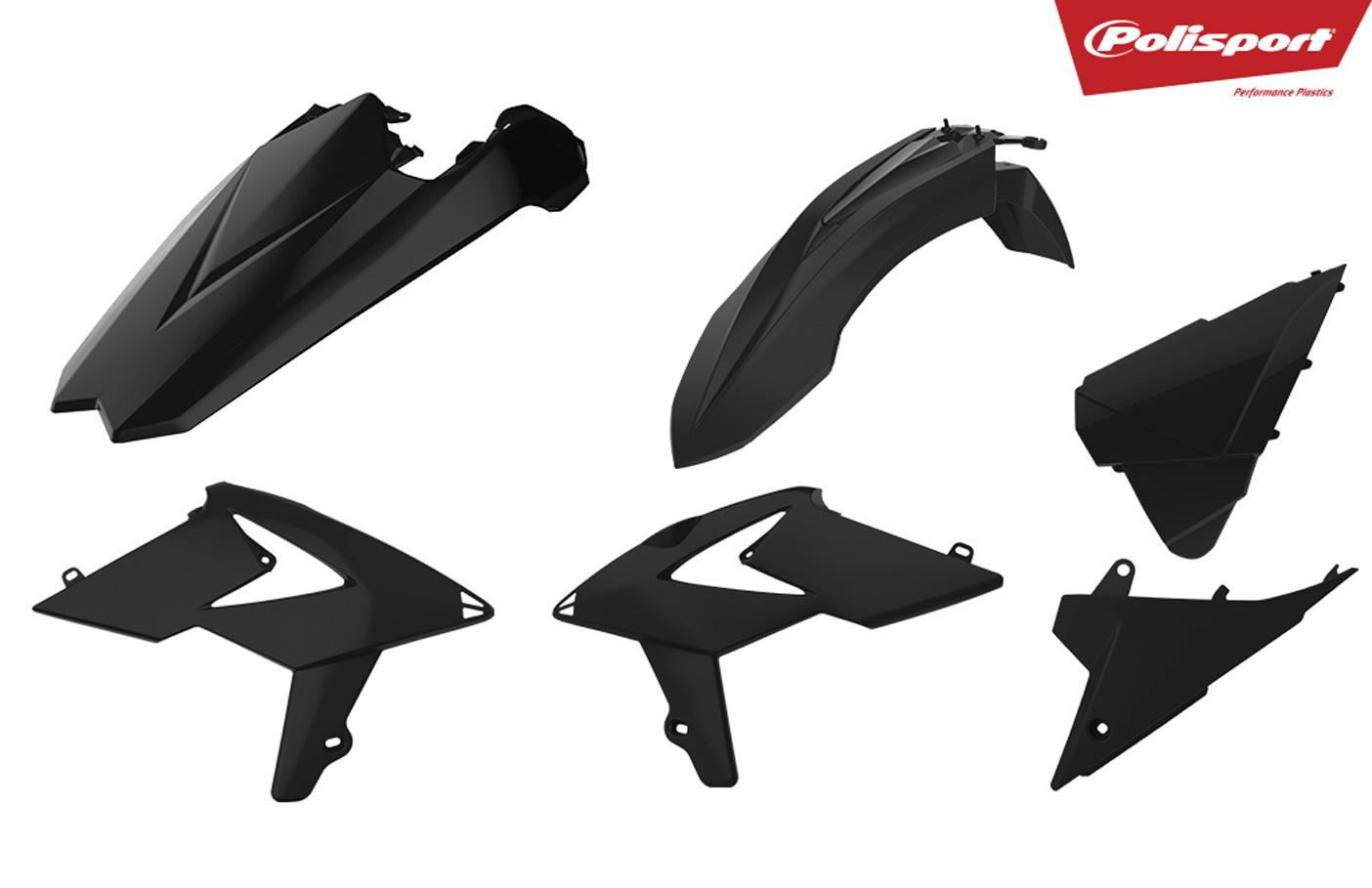 Plastikteile für deine Beta RR in schwarz, bestehend aus Frontkotflügel, Heckkotflügel, Tankspoiler und Seitenteilen