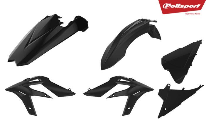 Plastikteile für deine Beta Xtrainer in schwarz, bestehend aus Frontkotflügel, Heckkotflügel, Tankspoiler und Seitenteilen
