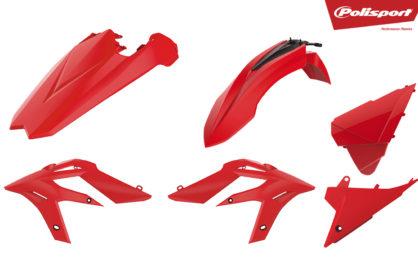Plastikteile für deine Beta Xtrainer in rot, bestehend aus Frontkotflügel, Heckkotflügel, Tankspoiler und Seitenteilen
