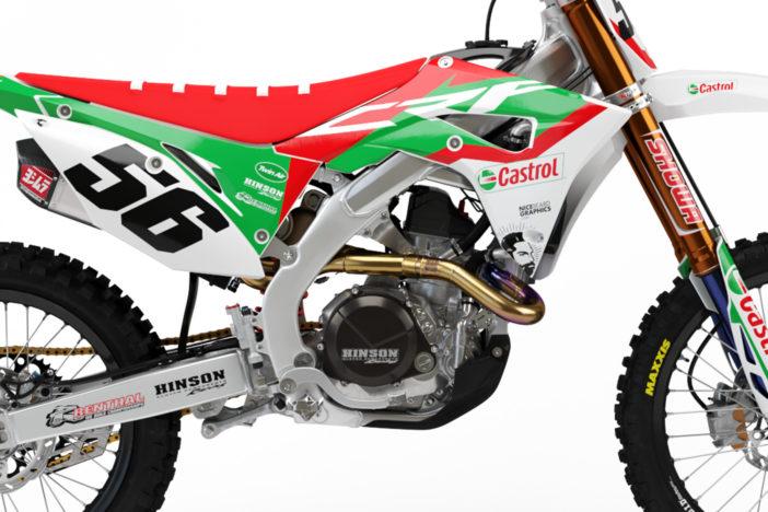 Honda CRF Castrol Dekor Detailansicht