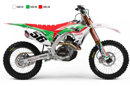 Honda CRF Castrol Dekor Hauptansicht