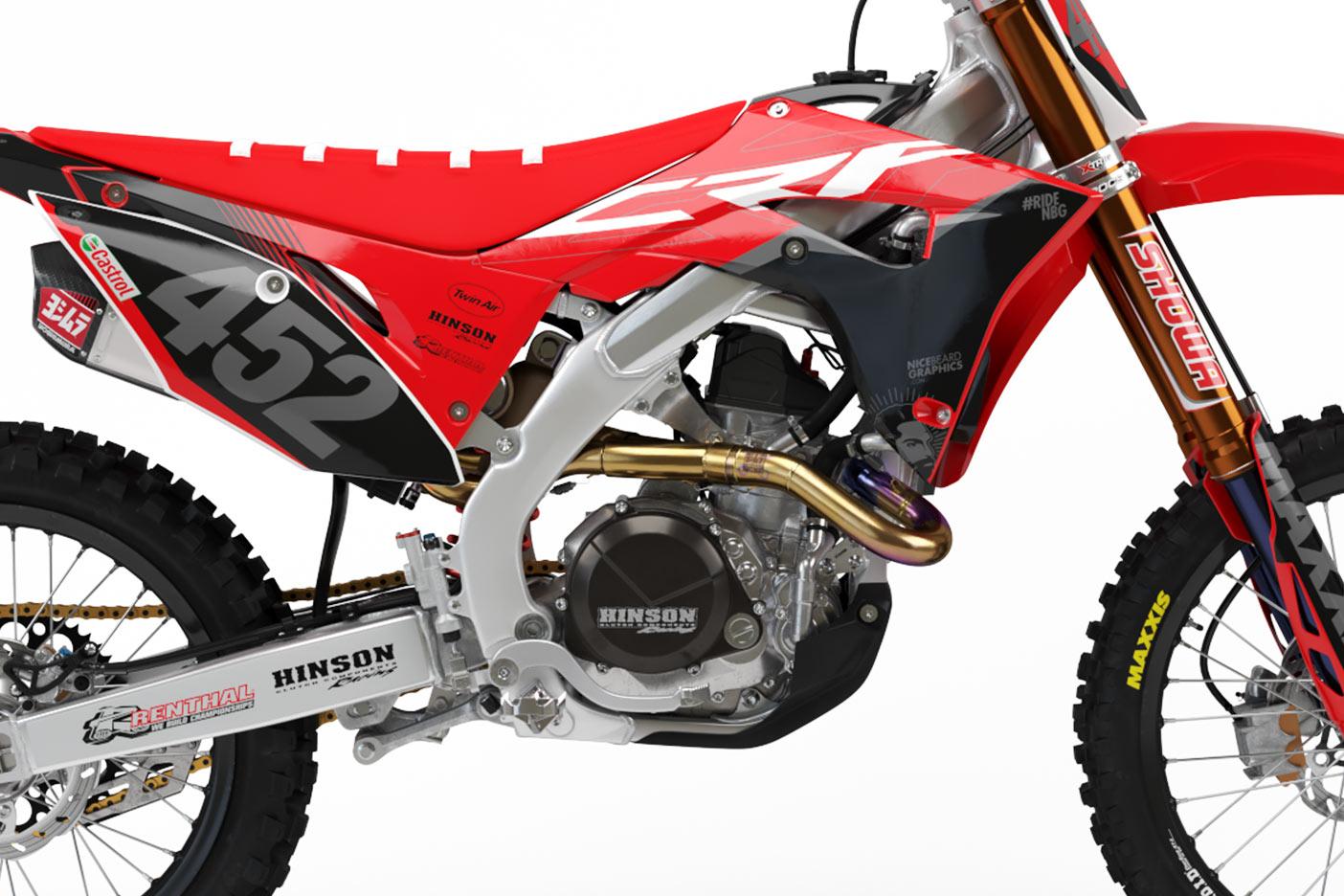 Honda CRF Gravity Dekor Detailansicht