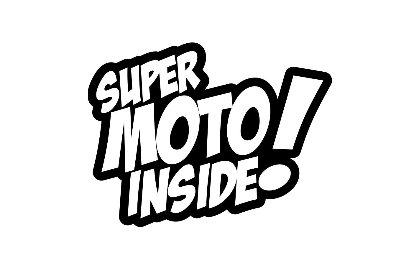 "Aufkleber mit dem Schriftzug ""Supermoto Inside"""