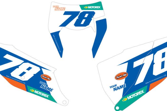KTM Leader Nummerntafel Dekor Detailansicht EXC