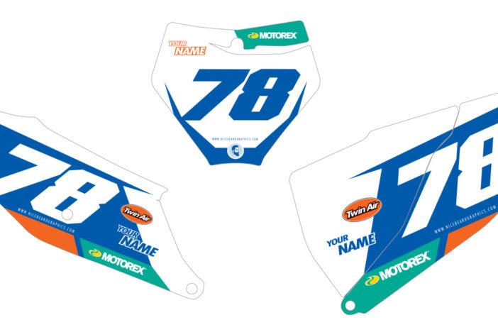 KTM Leader Nummerntafel Dekor Detailansicht SXF