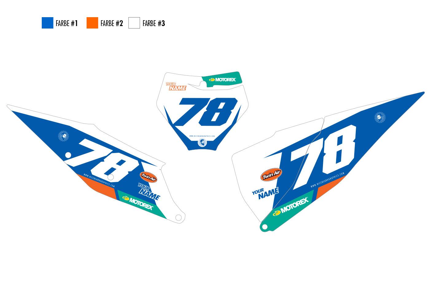 KTM Leader Nummerntafel Dekor Hauptansicht SXF