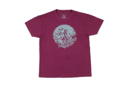 Dirt.Bike.Ride Shirt bordeaux Front