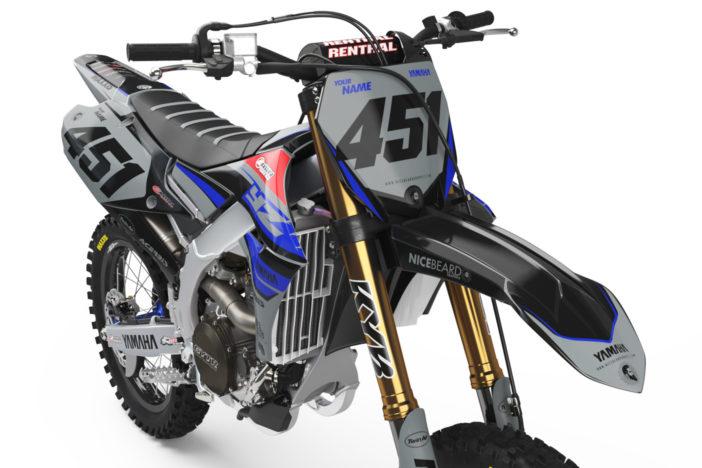 Yamaha Racing Grey Detailansicht Front