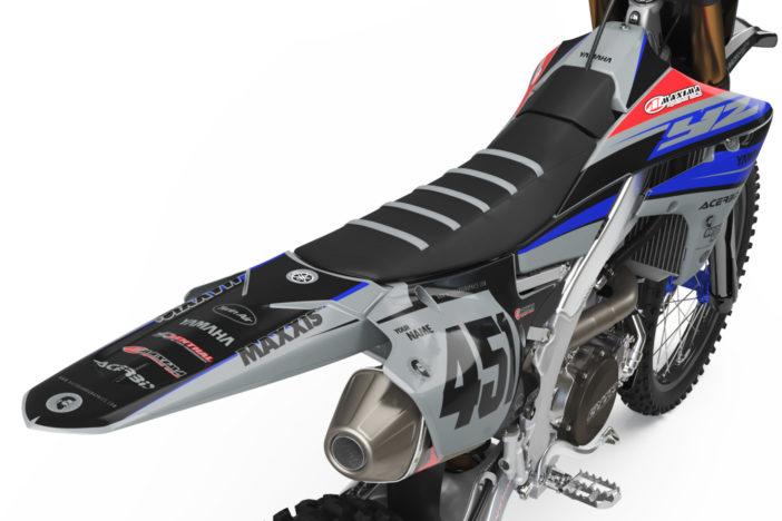 Yamaha Racing Grey Detailansicht Heck