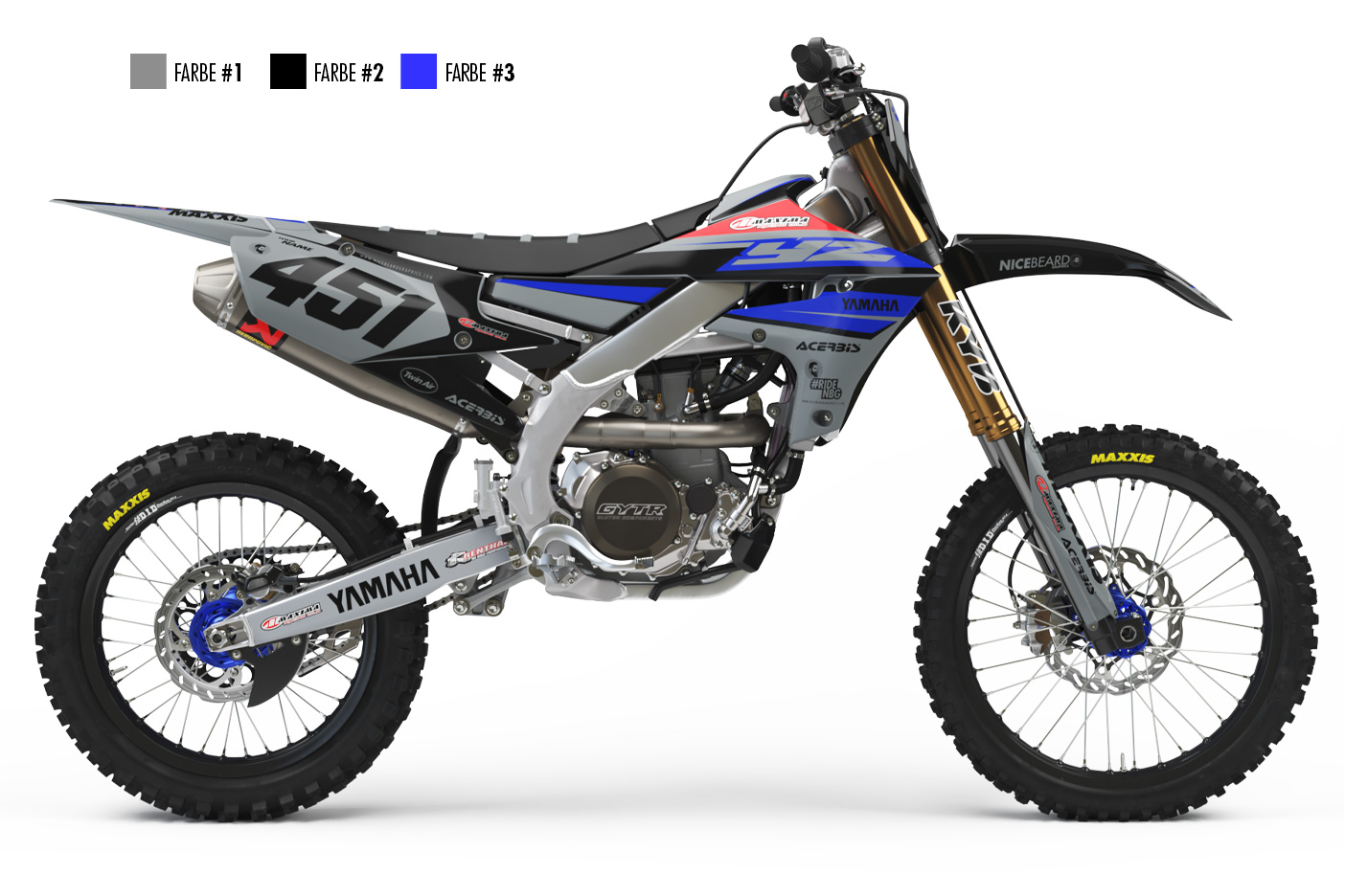 Yamaha Racing Grey Hautpansicht
