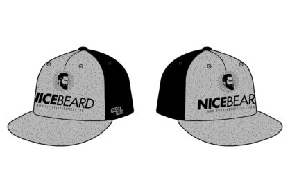 NiceBeardGraphics Buddy Flexfit-Cap Links-Rechts