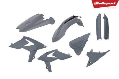 Plastikteile für deine Beta RR in grau, bestehend aus Frontkotflügel, Heckkotflügel, Tankspoiler, Gabelschoner und Seitenteilen
