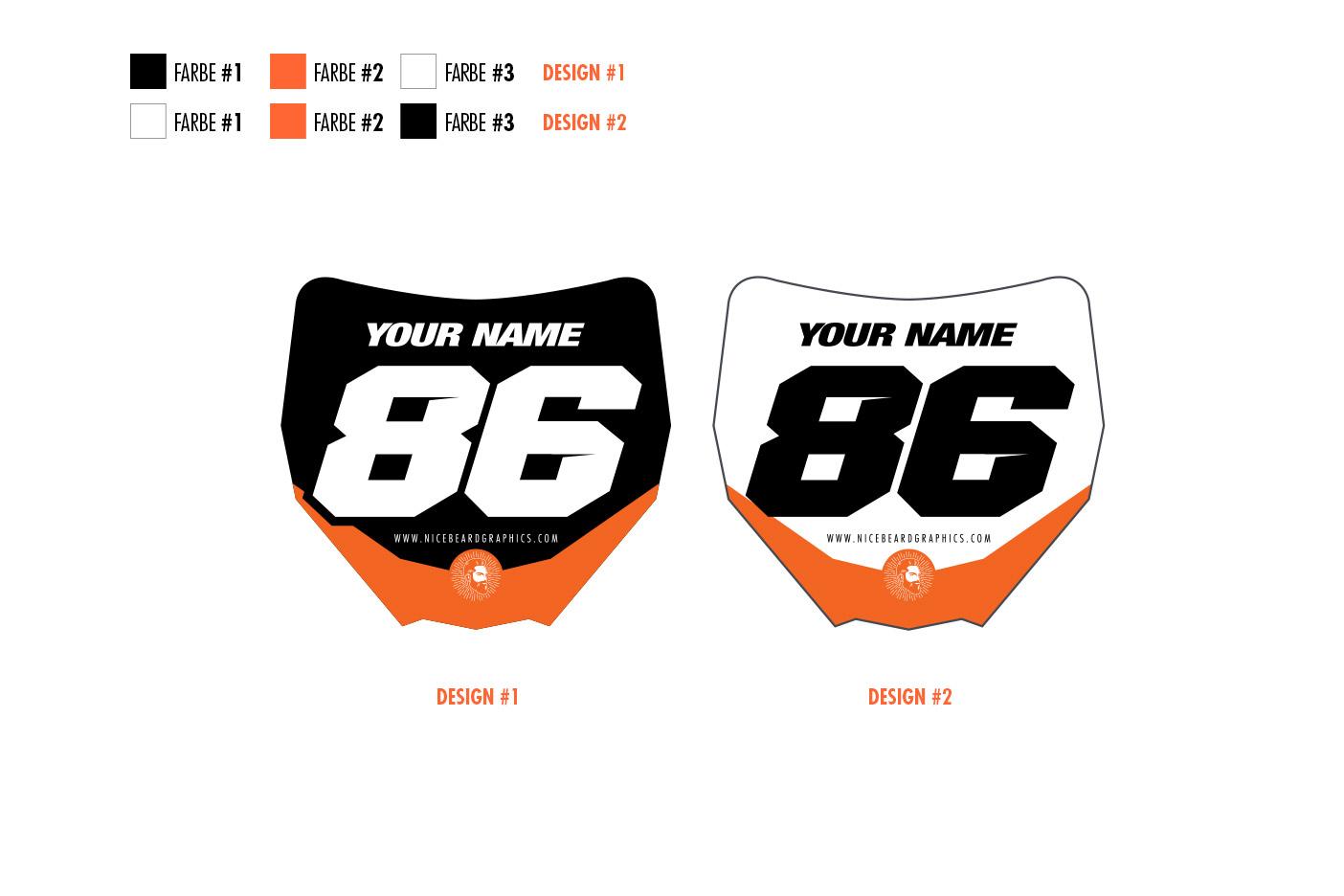 Miniplates orange Hauptansicht