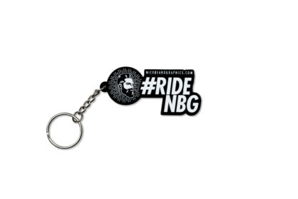#rideNBG Schlüsselanhänger Frontansicht