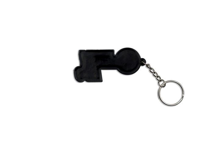 #rideNBG Schlüsselanhänger Rückansicht