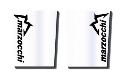 Marzocchi Gabelholm Dekor / Aufkleber in transparent