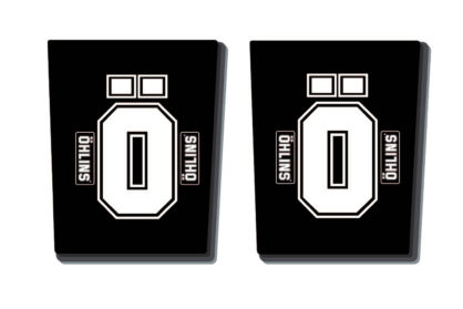 Öhlins Gabelholm Dekor / Aufkleber in schwarz