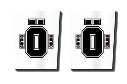 Öhlins Gabelholm Dekor / Aufkleber in transparent
